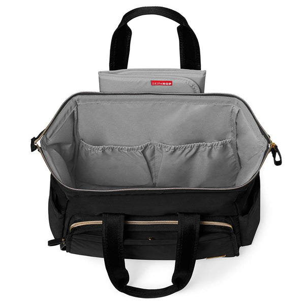 Skip Hop Main Frame Wide Open Satchel - Black