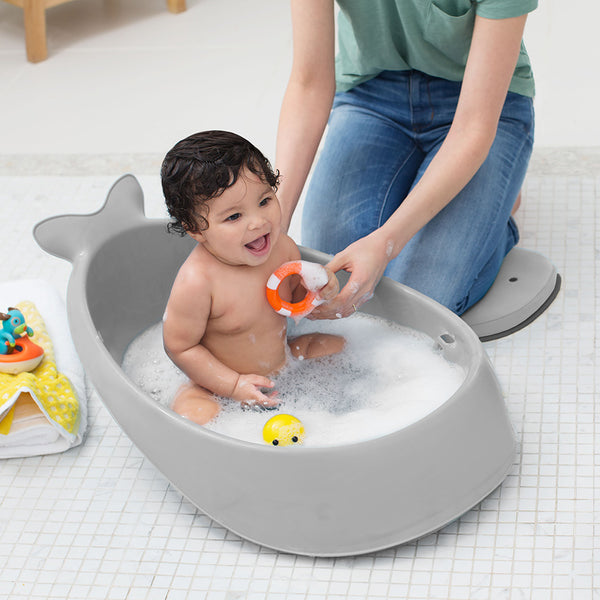 Skip Hop Moby Smart Sling 3-Stage Bath Tub- Grey