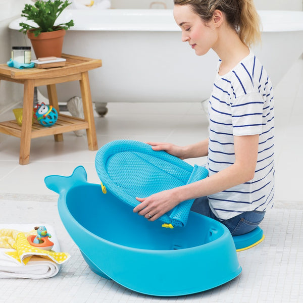 Skip Hop Moby Smart Sling 3-Stage Bath Tub- Blue