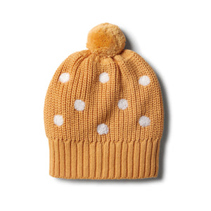 Wilson & Frenchy Golden Apricot Knitted Spot Hat