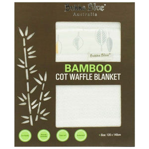 Bubba Blue Cot Blanket Bamboo Leaves