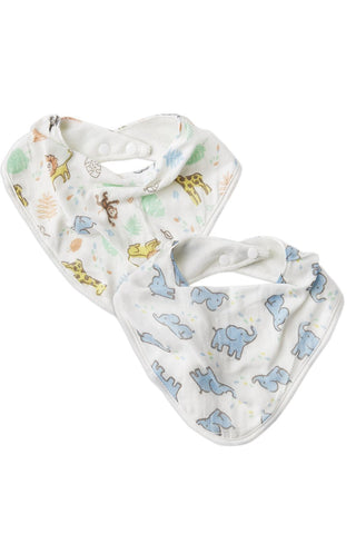 The Little Linen Co Baby Bibs - Jungle Mates