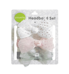 Playette 3pk Chiffon & Grosgrain Headbands