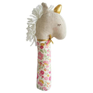 Alimrose Squeaker Yvette the Unicorn Rose Garden