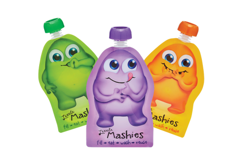Little Mashies Twin Pack Reusable Food Pouches