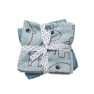 Done by Deer Swaddle 2pk - Contour Blue