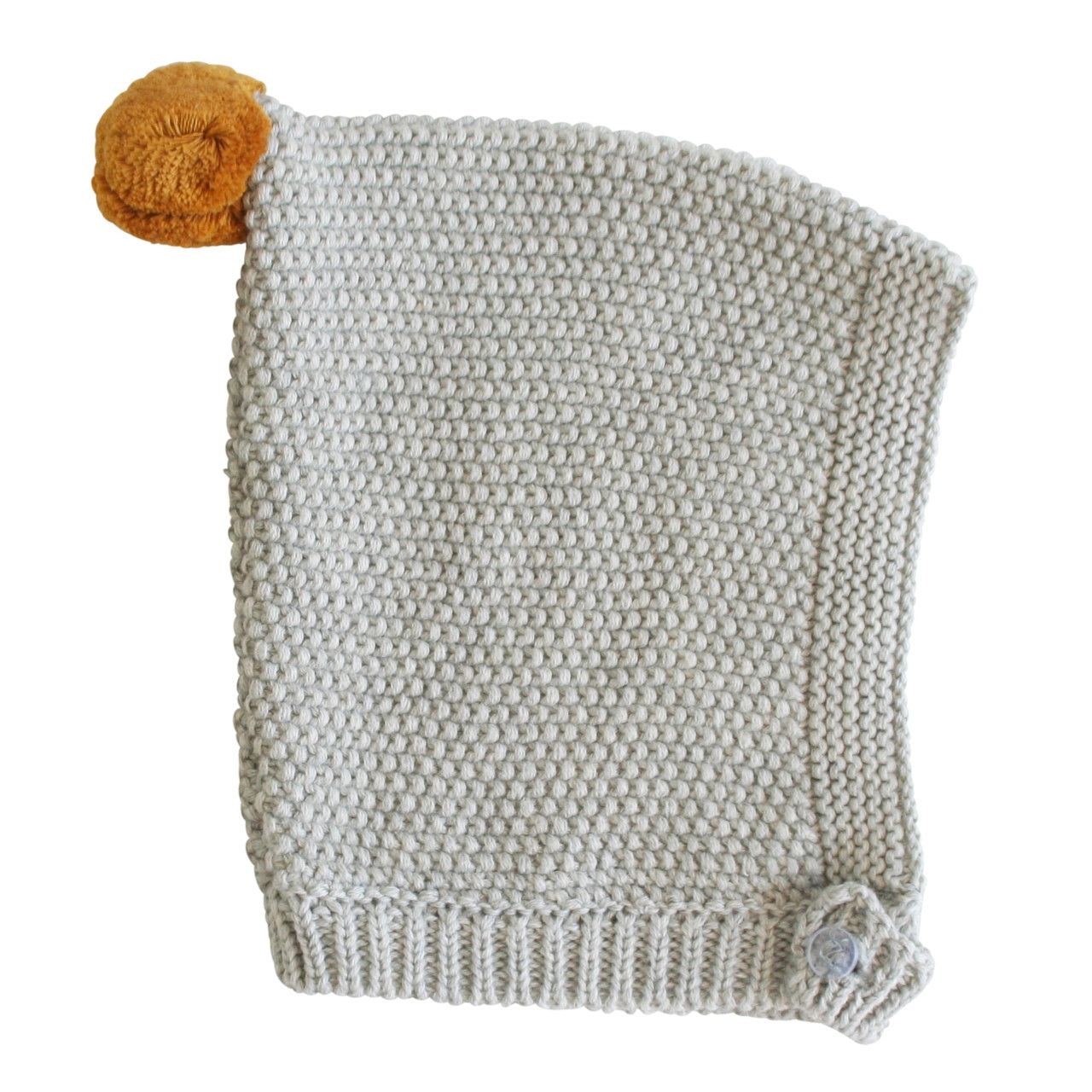 Alimrose Pom Pom Pixie Hat - Butterscotch & Grey