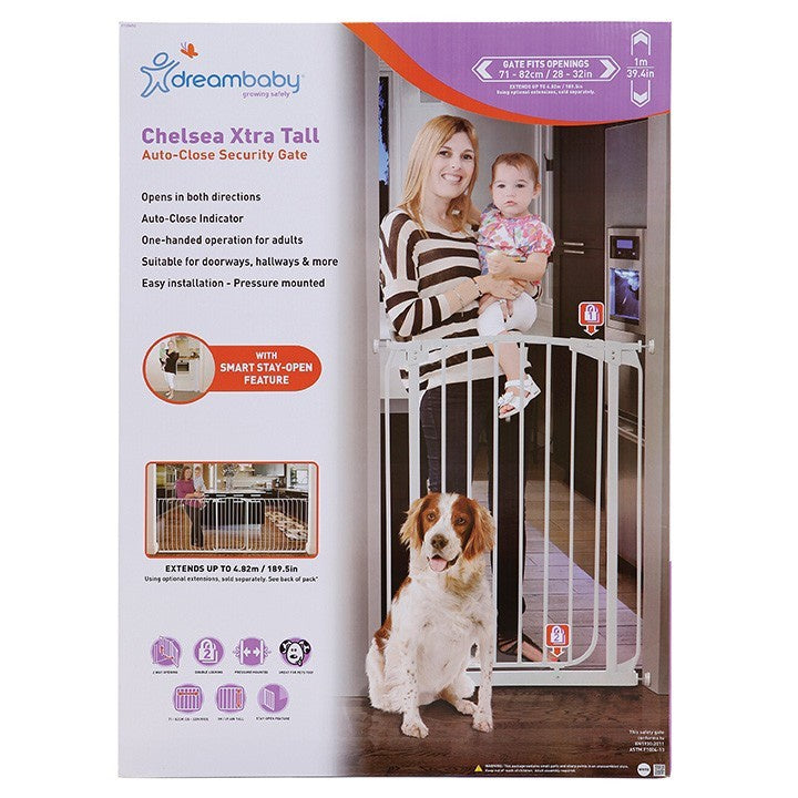Dreambaby Chelsea Tall Safety Gate 1m High White