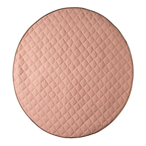 Cattywampus Dusty Pink Quilted Round Playmat