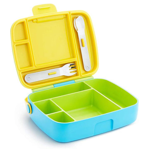 Munchkin Lunch Bento Box with Stainless Steel Utensils