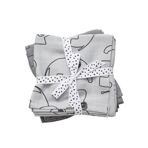 Done by Deer Swaddle 2pk - Contour Grey
