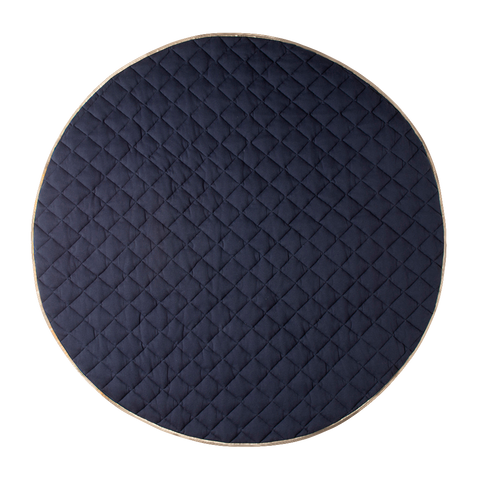 Cattywampus Royal Blue Quilted Round Playmat