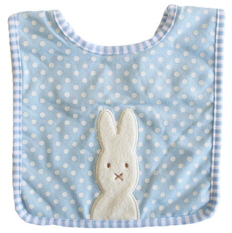 Alimrose Bunny Applique Bib - Blue