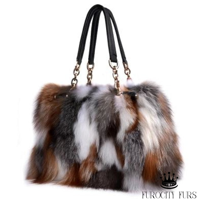 In The Bag (Real Fur) - Brown Mix - Accessories f7d3b785f01d3