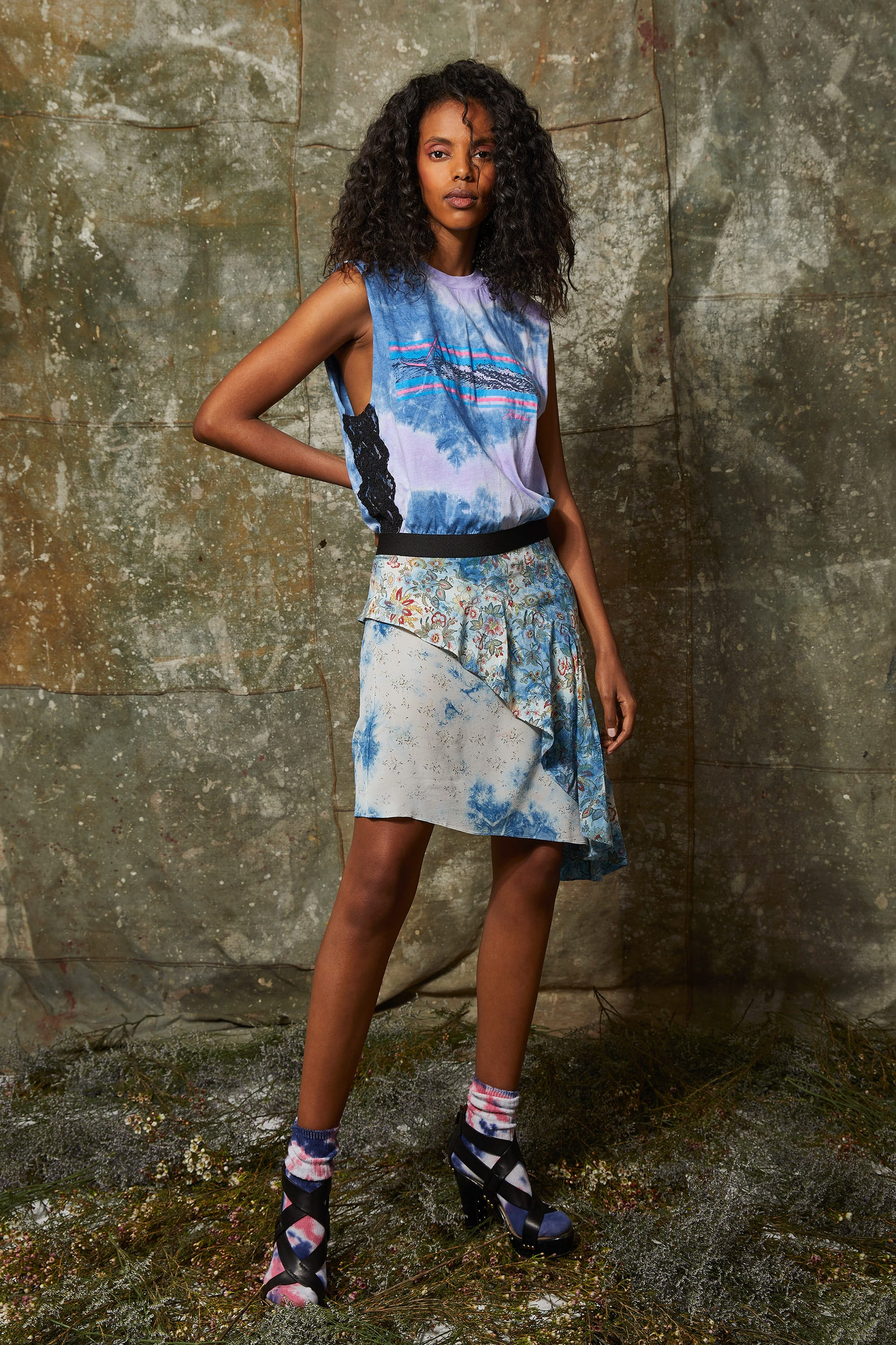 """Hawaii Windsurfer"" VINTAGE T COMBO dress"