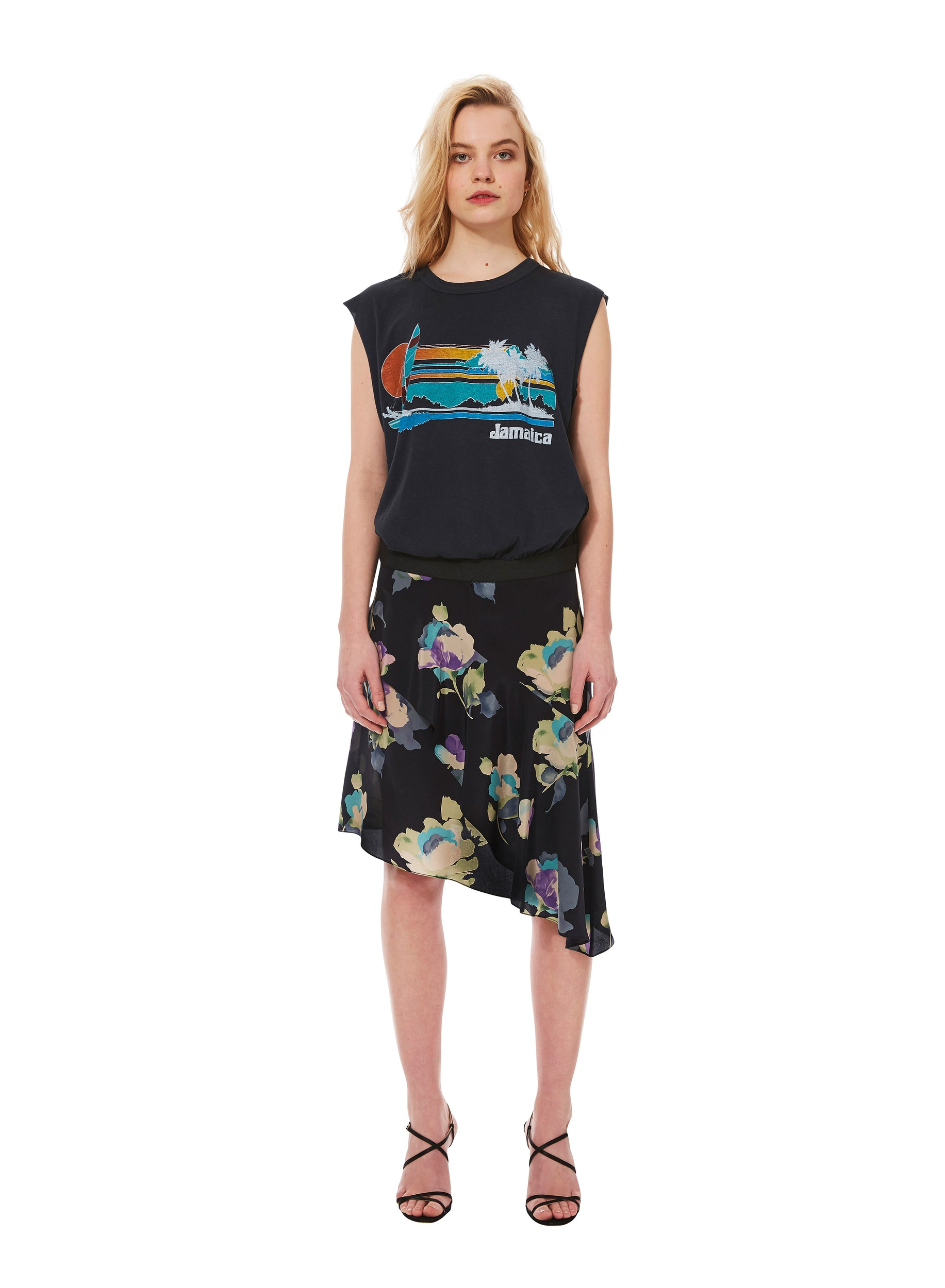 """Jamaica Windsurfer"" VINTAGE T BLACK dress"