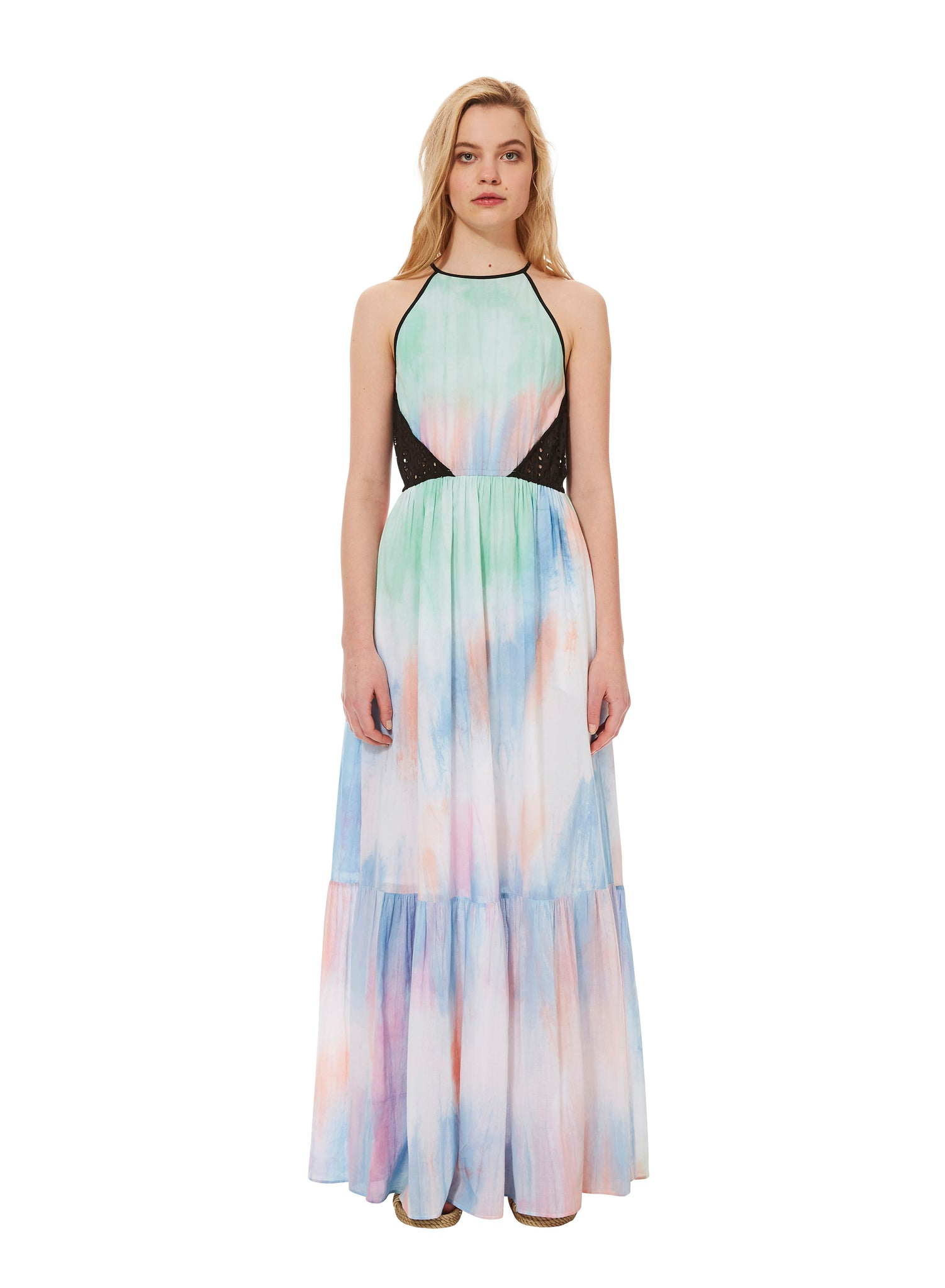 TIE-DYE CLOUD maxi dress