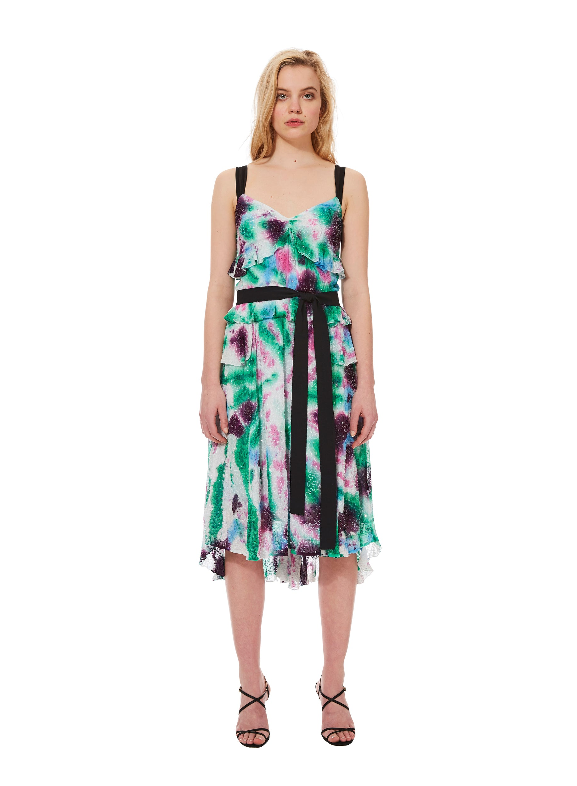 KALEIDOSCOPE TIE-DYE dress