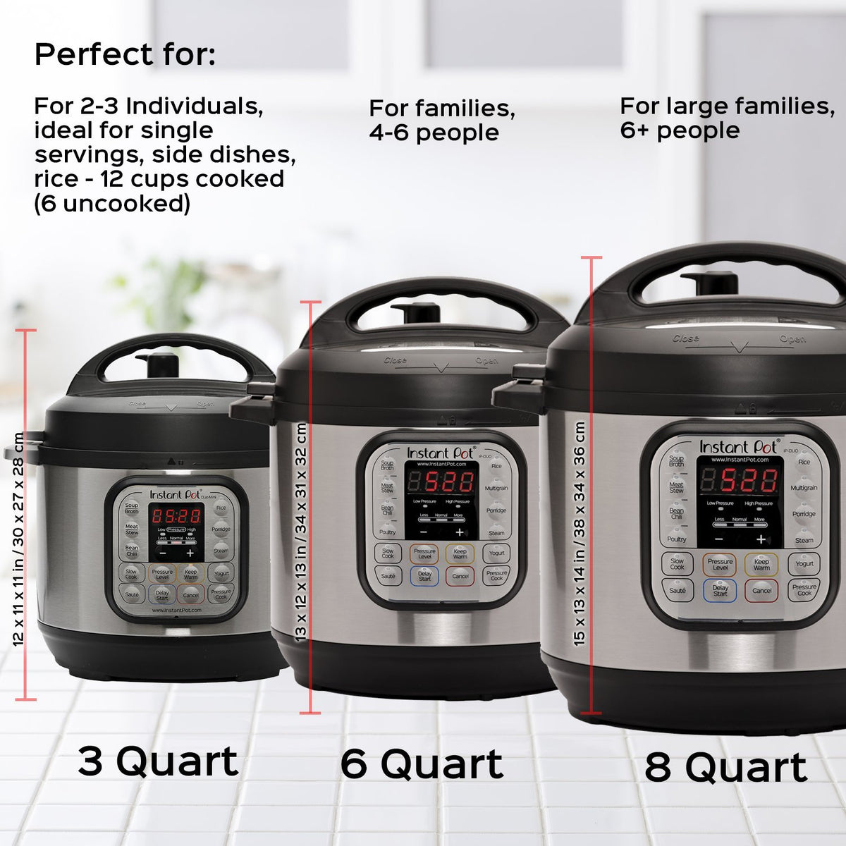 Instant Pot DUO60-7-in-1 Multi-Use Programmable Pressure Cooker Slow Cooker Rice Cooker Steamer Sauté Yogurt Maker Warmer