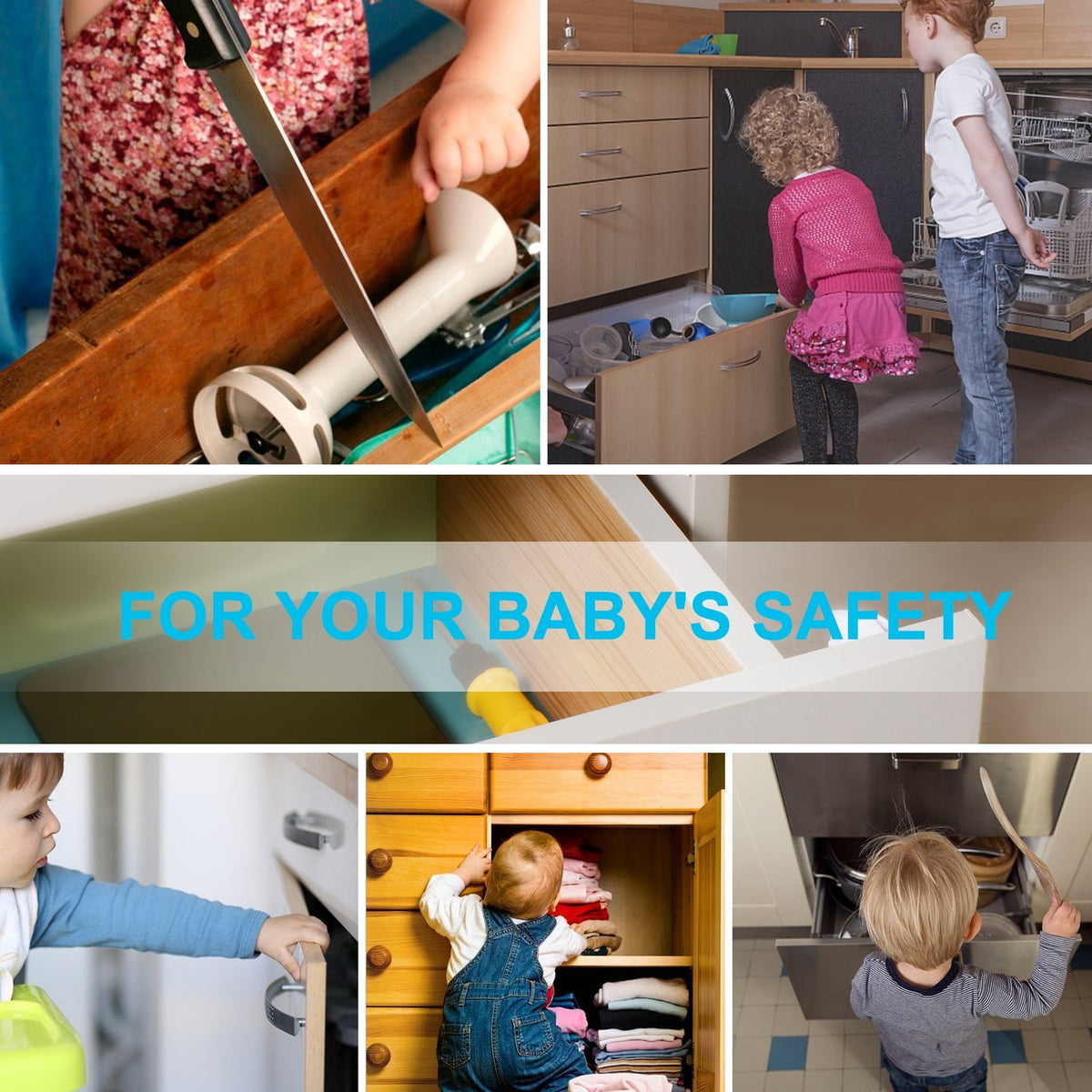 MAGNETIC BABY CABINET LOCKS