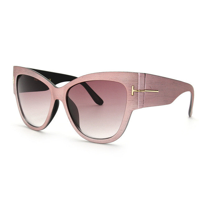 ROYAL GIRL Luxury Brand Designer Women Sunglasses Oversize Acetate Cat Eye Sun Glasses Sexy Shades ss649