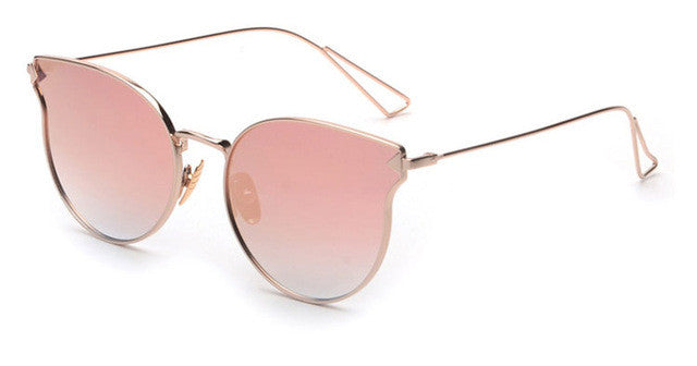 ROYAL GIRL Fashion Brand Designer Sunglasses Women Reflective Mirror Sun Glasses metal Frame Arrow Leg Glasses UV400 ss491