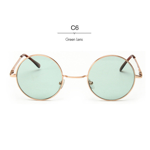 ROYAL GIRL New Retro Brand Women Alloy Frame Glasses Round Sunglasses UV400 ss167