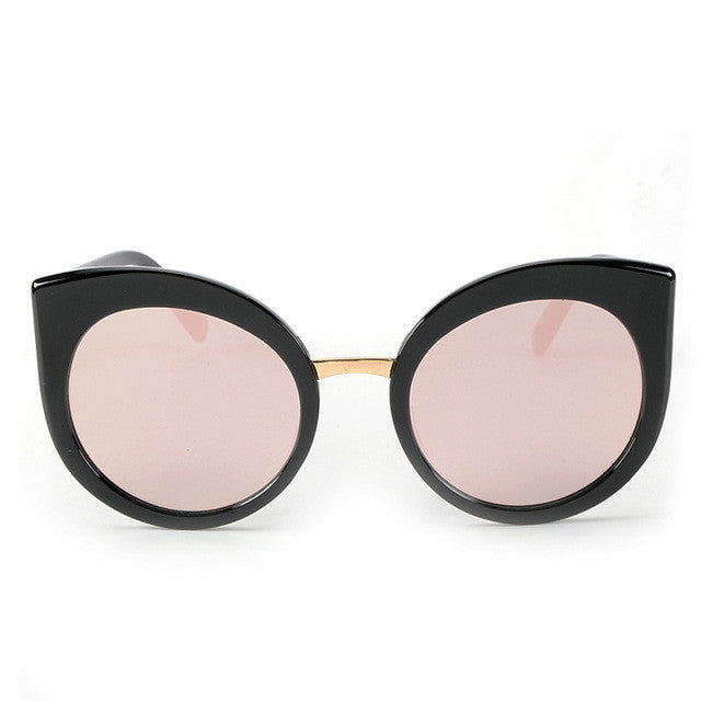 ROYAL GIRL Fashion Women Oversize Cat Eye Glasses Brand Design Vintage Sun  glasses Round Coating gafas 98cb642fb9
