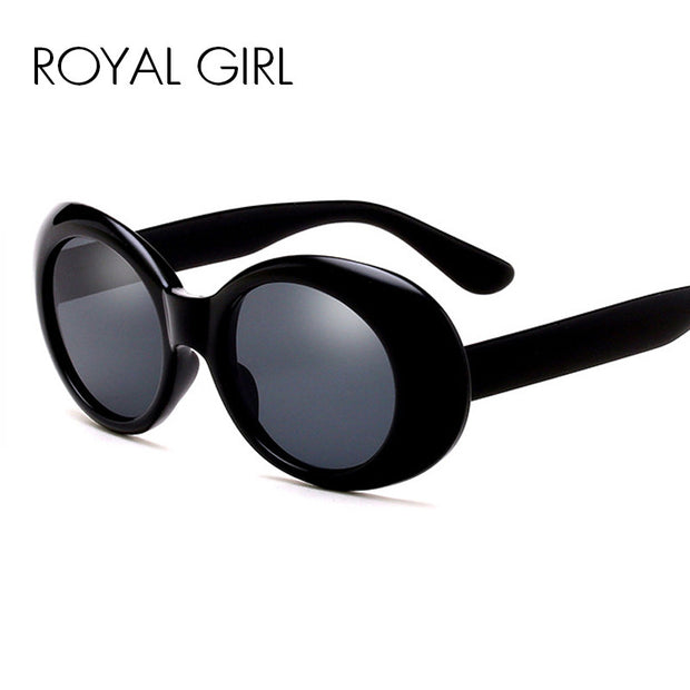 ROYAL GIRL New Designer Women Sunglasses Funny Chunky Oval Men Sun glasses SS033
