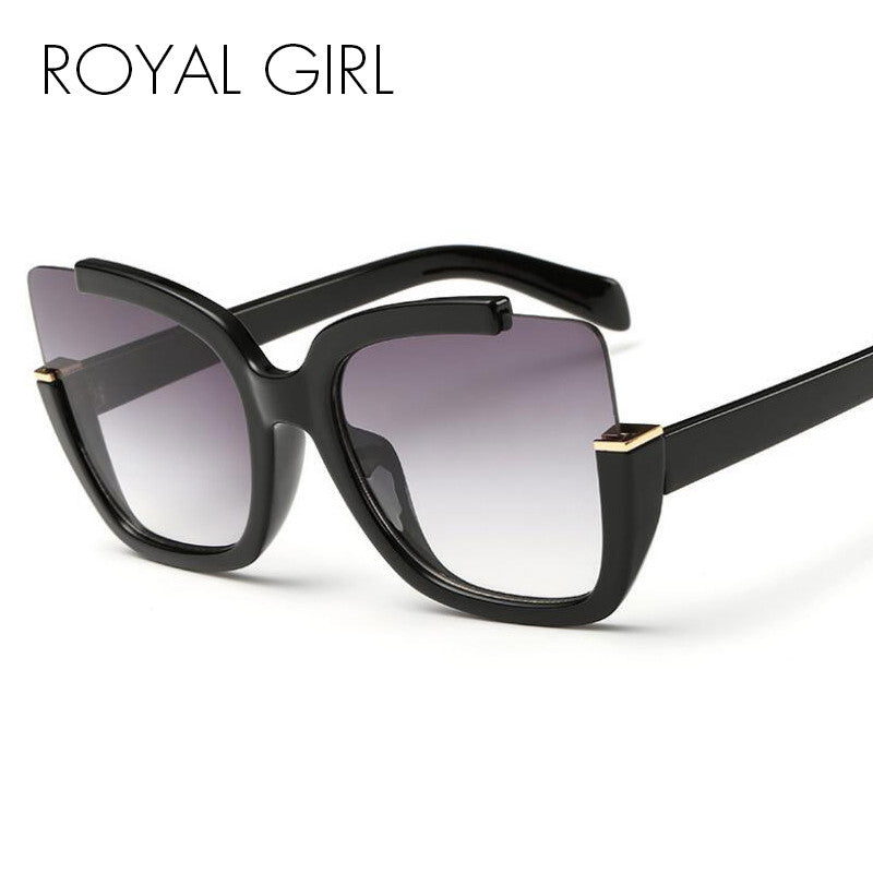 ROYAL GIRL Fashion Vintage Cat Eyes Sunglasses Women Brand Designer Retro Sun Glasses UV400 ss274