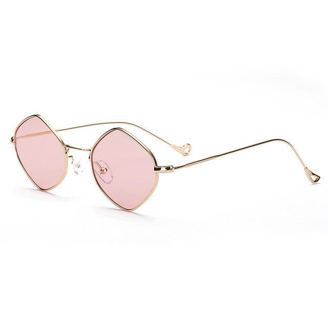 Royal Girl Small Rhombus Alloy Frame Sunglasses For Men/Women Summer Style Brand Designer Unisex Sun Glasses SS135