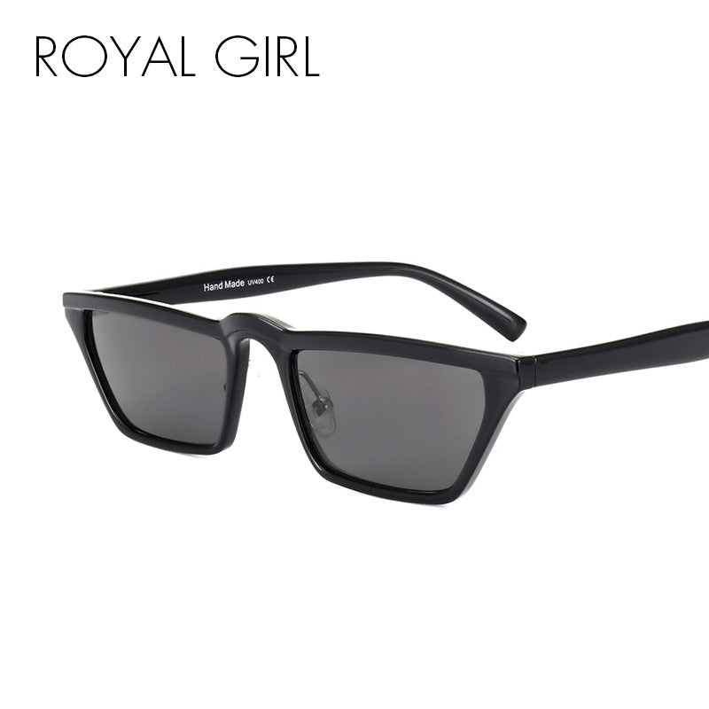 ROYAL GIRL Women Cat Eye Sunglasses Classic Brand Designer Vintage Flat Top Small Acetate Frame Sunglasses SS526