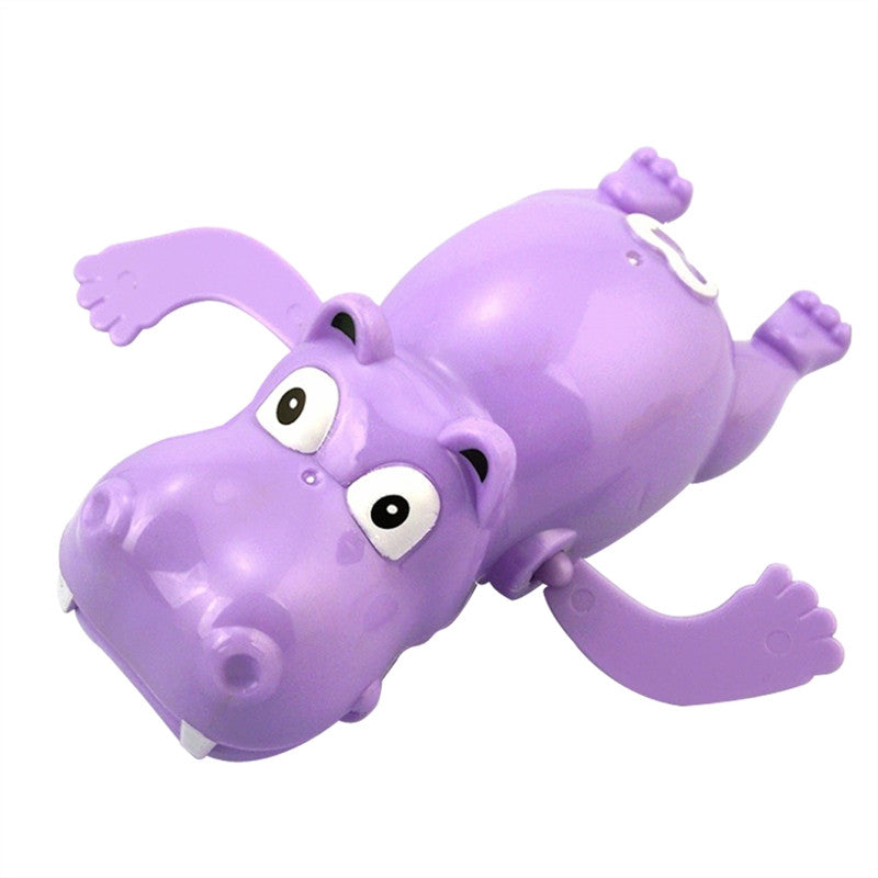3pcs Pool Wind Up Bath Toys Animals Turtle Hippo Crocodile Swimming Tub Bathtub Clockwork Play Toy Kid Children Educational Water Toys