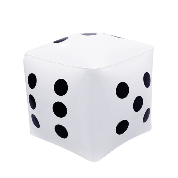 Big Inflatable Dice for Pool Toy Party Favours (White)