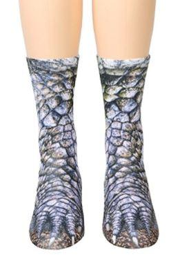 Animal Paw Crew Socks - Sublimated Print (Unisex Adult)