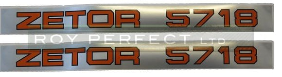 Zetor 5718 Pair of Decals - Roy Perfect LTD