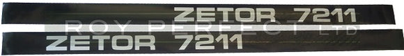 Zetor 7211 Pair of Decals - Roy Perfect LTD