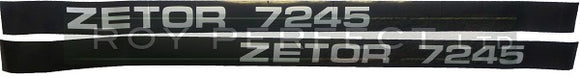 Zetor 7245 Pair of Decals - Roy Perfect LTD