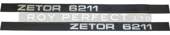 Zetor 6211 Pair of Decals - Roy Perfect LTD