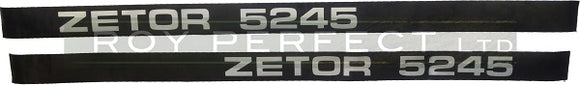 Zetor 5245 Pair of Decals - Roy Perfect LTD