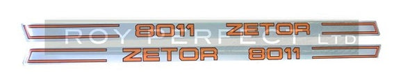 Zetor 8011 Pair of Decals - Roy Perfect LTD
