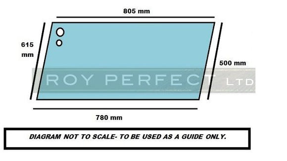 Massey Ferguson 300 Series Upper Door Glass L/H & R/H - Roy Perfect LTD