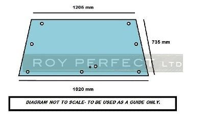 Massey Ferguson 690 Rear Glass - Roy Perfect LTD