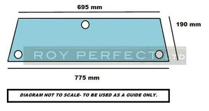 Massey Ferguson Lower Rear Window (300 Series) - Roy Perfect LTD