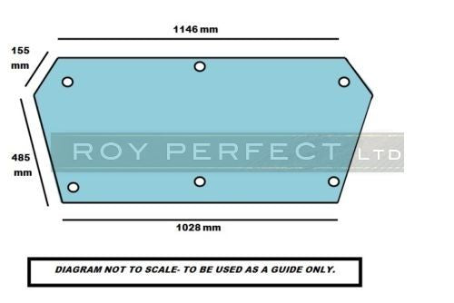 Ursus Cab Safety Glass- Back Window - Roy Perfect LTD