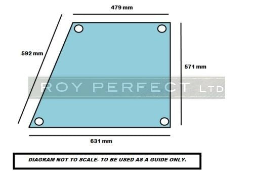 Ursus Cab Safety Glass Top Door RH LH - Roy Perfect LTD
