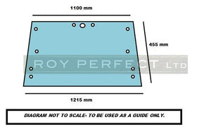Ford Upper Rear Glass (Q Cab) - Roy Perfect LTD