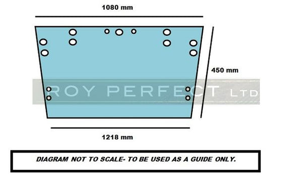 Ford Upper Rear Glass (Super Q Cab) - Roy Perfect LTD