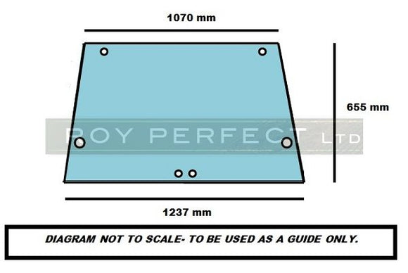Ford Rear Glass (AP & LP Cab 3430 etc) - Roy Perfect LTD