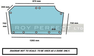Same Tractor Silver Rear Glass Late Models - Roy Perfect LTD